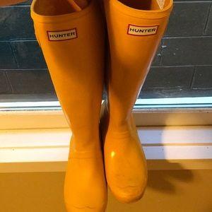 Tall Yellow Hunter Boots